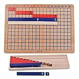 Gazechimp Set Montessori Juguetes de Educativos Matemáticas Adición Sustracción Bordo Niño Madera Juegos de Mesa