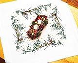 Kamaca - Set per ricamo a punto croce, motivo natalizio, in cotone, 80 x 80 cm.