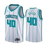QWE Wo Nice Men's Basketball Uniforms, Charlotte Hornets # 40 Cody Zeller NBA Basketball Jerseys Flow Sports Chaleco Camiseta...