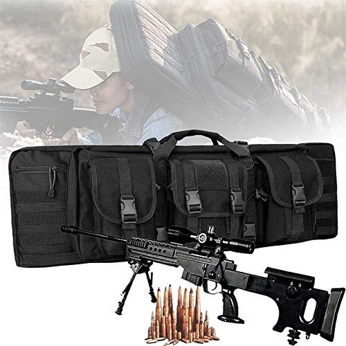 WSVULLD Bolsa De Rifle Doble, Mochila Airsoft con Protección De Relleno Central, Estuches De Transporte De Armas De Fuego para Tiro De Caza, Bolsa Impermeable para Armas Al Aire Libre