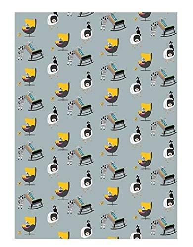 Sally Scaffardi Design Geschenkpapier, Motiv: Katzen auf Stühlen, zum Fernsehen