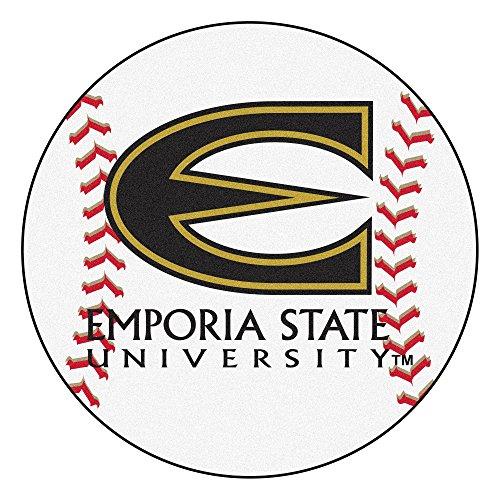 NCAA Emporia State University Hornets Baseball Shaped Mat Round Area Rug