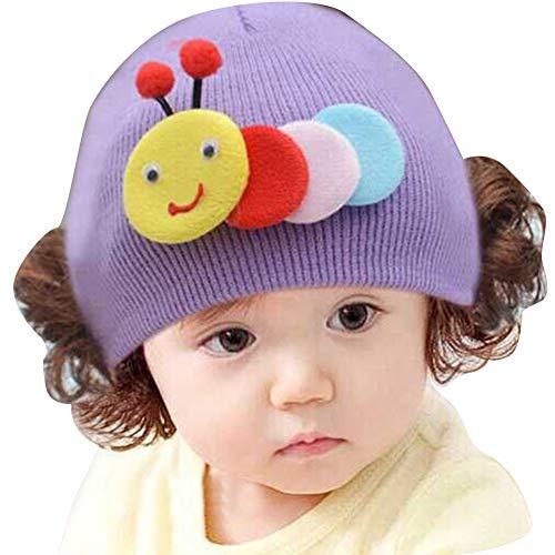 Tangbasi Baby Warm Hoed Leuke Konijn Dier Baby Meisjes Jongens Wollen Garen Gebreide Pruik Hoed Schedel Cap Beanie