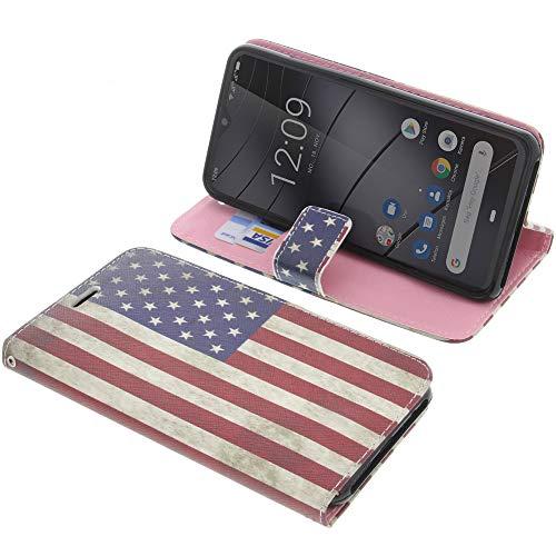 foto-kontor Tasche für Gigaset GS290 Book Style Flagge US Schutz Hülle Buch
