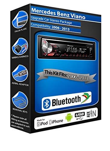 Pioneer Viano DEH-3900BT - Autoradio con USB, CD, MP3, AUX, Bluetooth