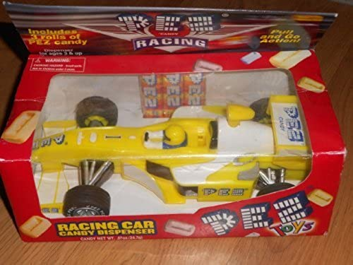 Pez Racing Gelb Race Car (Pull and Go) by Pez Candy