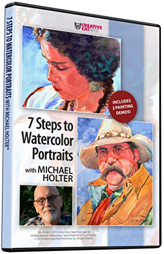 7 STEPS TO WATERCOLOR PORTRAITS WITH MICHAEL HOLTER DVD, Art Instruction, Art Improvement, Art Education, Watercolor Painting, Become a Better Artist