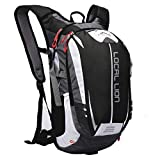 Local Lion Outdoor Sports Hiking Camping Daypack Travel Cycling Backpack Waterproof Rucksack Unisex£¬Black