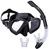 Supertrip Premium Snorkel Set Adult with 2 Mouthpieces Diving Mask Snorkeling Diving Swimming