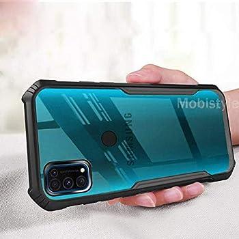 Mobistyle Shockproof Bumper Transparent All Side Protection Cover Case for Samsung M31/Samsung F41 (Black)