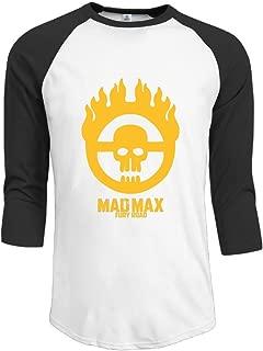 Mad Max Fury Road Soccer Team Fine Summer Mens Three-Quarter Sleeve Football Eco-Jersey Raglan T-shirts