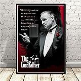 QIANLIYAN Poster and Prints The Godfather Marlon Al Pacino