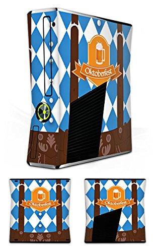 DeinDesign Skin kompatibel mit Microsoft Xbox 360 Slim Aufkleber Folie Sticker Oktoberfest Lederhose München