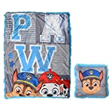 """Franco Kids Bedding Super Soft 40"""" x 50"""" Throw and 14"""" Pillow Gift Set, Paw Patrol"""