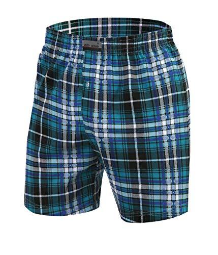 Sesto Senso Schlafanzughose Herren Kurz Baumwolle Pyjamahose 1er 2er Pack/L, 11