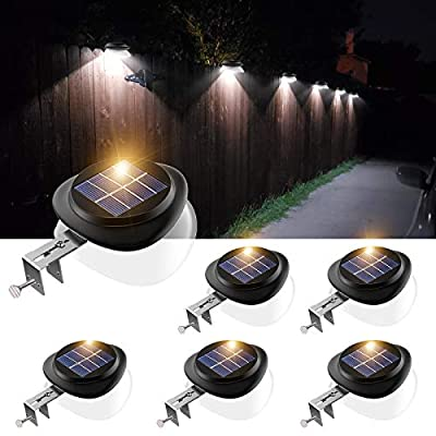 Outdoor Solar Gutter Lights Solar Powered Fence Light Waterproof LED Wall Lamps for Roof Eaves Railing Deck Stairs Corridor - White Light