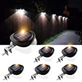 Solar Gutter Lights, Newest 9 LED Outdoor Fence Light Waterproof Wall Lamps for...