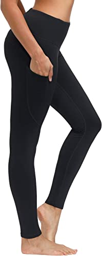 Libin Women's Fleece Lined Leggings Winter Warm High Waisted Thermal Yoga Pant Running Tights with Pockets