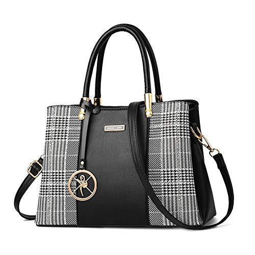 Womens Leather Handbag Designer Shoulder Tote Crossbody Bag Elegant Top...