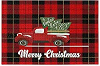 クリスマスツリー赤いトラックジグソーパズル赤いタータンチェック柄500ピースパズル子供のための教育的な知的減圧楽しいゲーム大人の家の壁の装飾