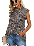 Angashion Women's Tops Casual Floral Print Cap Sleeve...