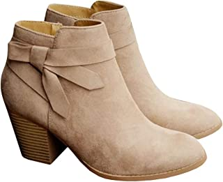 women's booties with bow