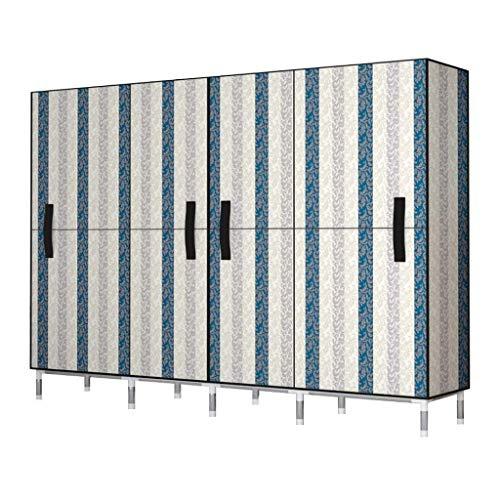 WINON Ropero Armario Armario Simple almacenaje de la Ropa Organizador Mobiliario de Dormitorio Gabinete de Almacenamiento Armario Armario Ropa portátil (Color : A, tamaño : 205x45x175CM)