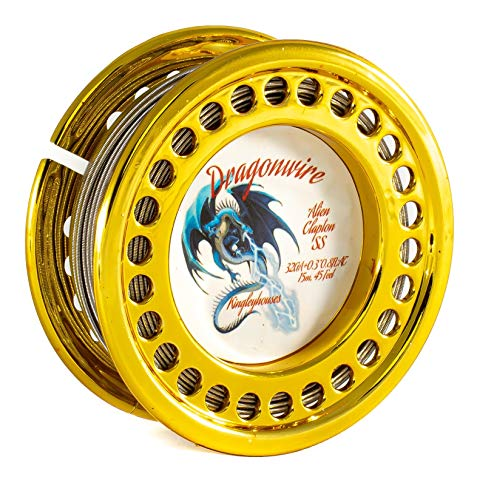 15m Alien Clapton Wickeldraht Wire KA1 FeCrAl oder SS316L Edelstahl Draht Kingleyhouses Dragonwire (15m Alien Clapton SS Edelstahl)
