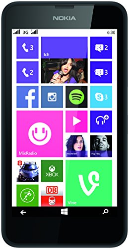 Nokia Lumia 630 Dual-SIM Smartphone (4,5 Zoll (11,4 cm) Touch-Display, 8 GB Speicher, Windows 8) schwarz