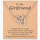 Seyaa Double Heart Pendant Necklace for Girlfriend Meaningful...