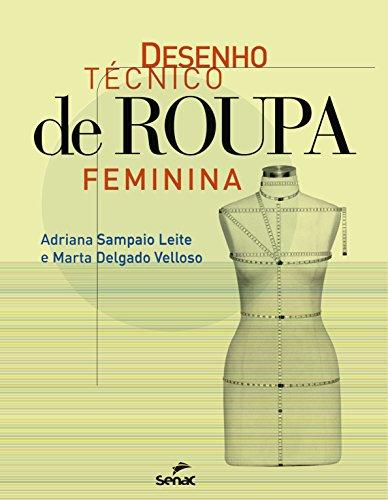 Desenho técnico de roupa feminina
