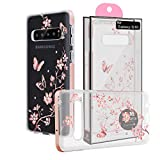 El Lumiere Lumi Sketch Case for Samsung Galaxy S10 Soft Flexible TPU [Lightweight Ultra Thin Shell] Non-Stick TPU [Glossy Finish Back Cover] (LS-Butterfly Flower)