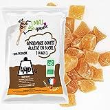 [MA] bio-épicerie | Jengibre confitado bajo en azúcar BIO en cubitos | 440G | Suelto en confección | Certificado ecológico | Fruta confitada de calidad superior | Sin conservantes