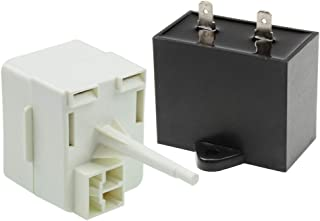 W10613606 Refrigerator Compressor Start Relay Capacitor for Fridge Parts Replaces w10416065 67003186 AP5787784