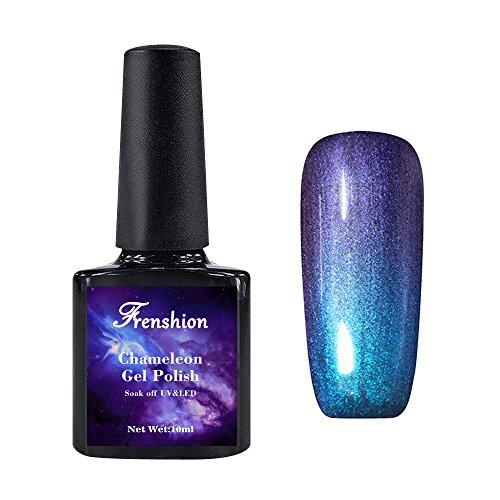 Frenshion 10ML Esmaltes de Uñas camaleón Semi Permanente Estrellado Gel Polish Soak Off UV LED Nail Art Galaxy 20