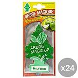 Arbre Magique Set 24 Deodorante Mela Verde Accessori Auto e Moto, Multicolore, Unica