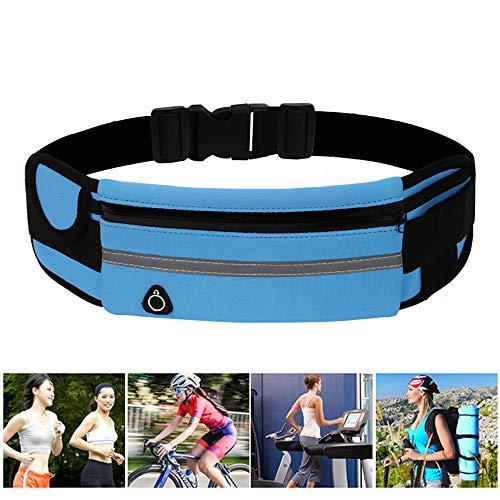 JYHEHOT Riñonera Deportivo Bolsa de Cintura de Teléfono con Orificio de Auriculares Impermeable para Deportes Fitness
