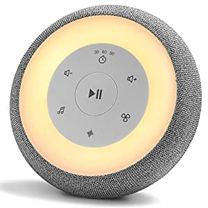 White Noise Machine with Baby Night Light, Sleeping Sound Machine for Baby and Adult, 24 High Fidelity Sounds & Timer, Rechargeable Sound Machine for Sleep Therapy, Noise Cancelling, Yoga and Travel