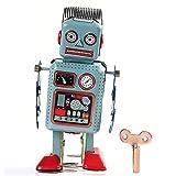 Bei wang Clockwork Wind Up Metal Walking Robot Tin Toy Retro Vintage Mechanical Kids Gift by Bei...