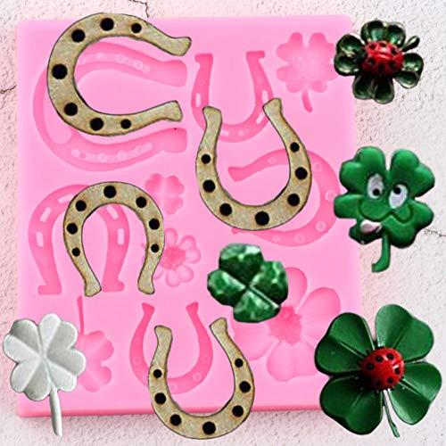VIOYO klaver lieveheersbeestje siliconen vormen paard schoen DIY taart decoreren Fondant schimmel Cupcake bakken snoep klei chocolade Gumpaste vormen