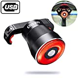 Onvian Smart Bike Tail Light, USB Rechargeable Ultra Bright IPX6 Waterproof Brake Sensing Bicycle Rear Lights, Light Sense Rear Accessories Fits Any Road Bikes