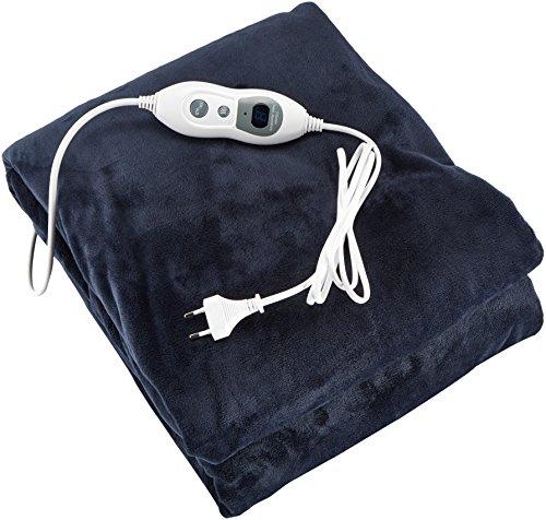 Julava Elektrische Heizdecke in grau | Kuschelheizdecke mit 6 Temperaturstufen und Überhitzungsschutz | beheizbare Decke mit Abschaltautomatik | Kuscheldecke ist maschinenwaschbar bei 30°C
