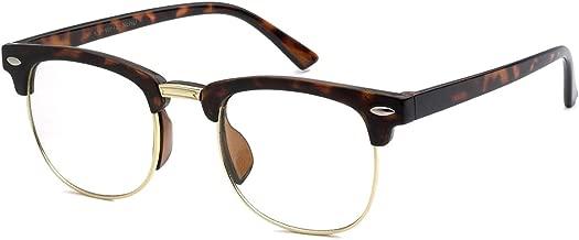KIDS Childrens Nerd Retro Half Frame Clear Lens Eye Glasses (Age 3-10)