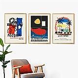 shmeksss Le Corbusier Ausstellung Poster Drucken Cartoon