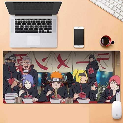 Naruto Akatsuki es una Alfombrilla de ratón Grande para Oficina y Juegos, Base de Goma Antideslizante, Adecuada para ratón extendido de 900 x 400 x 3 Pulgadas-A_30cm*80cm*0.3