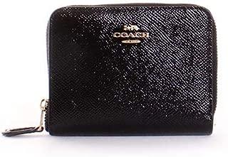 Womens Small Zip Around in Crossgrain Patent Leather