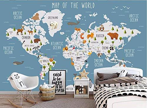 Fototapete Vliestapete 200cm x 150cmWeltkarte Wandbild Für Schlafzimmer Wohnzimmer TV Hintergrund Dekoration Wandmalerei