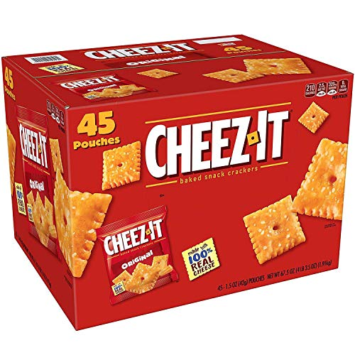 Cheez-It Baked Snack Cheese Crackers, Original, Single Serve, 1.5 Oz
