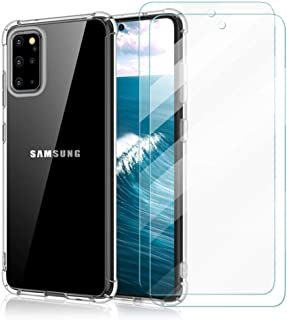 ZhuoFan For Samsung Galaxy A8 2018 Case + [2 Pack] Tempered Glass Screen Protector, Ultra Thin Silicone Transparent TPU Ca...