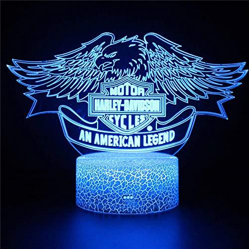 Lámpara de ilusión visual 3D una leyenda americana 3D ilusión LED lámpara de noche luz para decoración de dormitorio infantil lámparas creativas